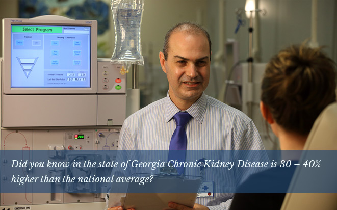 Did you know in the state of Georgia Chronic Kidney Disease 30 – 40% higher than the  national average?